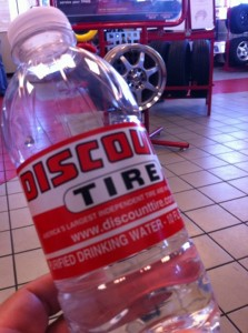 Bottled Water from Discount Tire